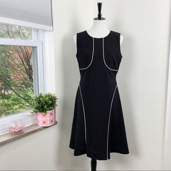 Calvin Klein | Work Black LBD Fit and Flare Dress
